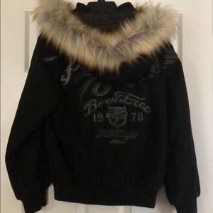 Pelle Pelle Jackets & Coats - Youth Wool Pelle Pelle Coat With Fur Hood